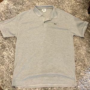 Gray Lacoste Polo